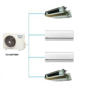 Điều Hòa Multi Panasonic CU-4S27SBH 25,600BTU 1 Chiều Inverter