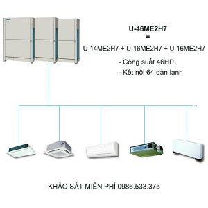 Dàn nóng điều hòa trung tâm Panasonic FSV-EX U-46ME2H7 46HP 2 chiều Inverter