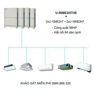 Dàn nóng điều hòa trung tâm Panasonic FSV-EX U-56ME2H7HE 56HP 2 chiều Inverter
